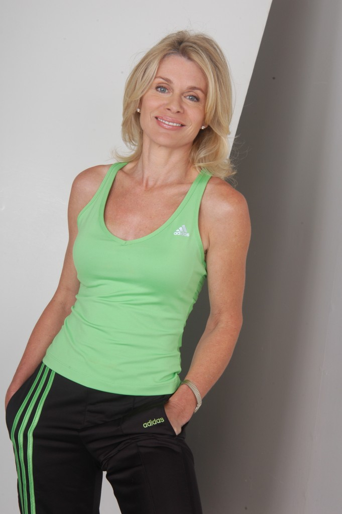 Denise DuBarry Hay in gymwear